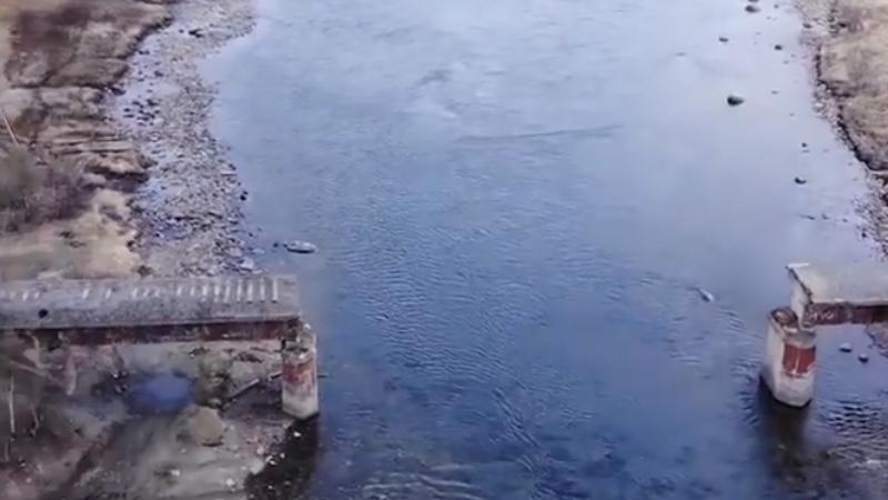 Ellopták a híd közepét