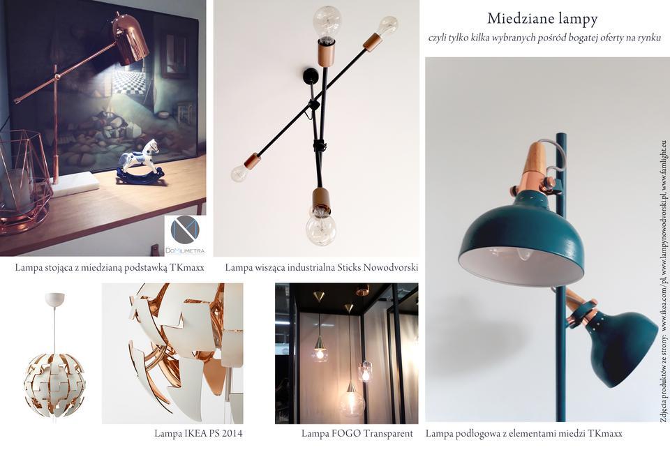 Miedziane lampy