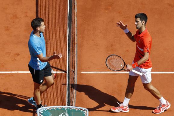 Novak Đoković je na Rolan Garos poražen u polufinalu od Dominika Tima