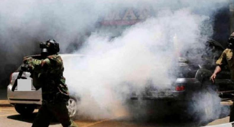 File image of police using teargas to disperse a crowd at a past event