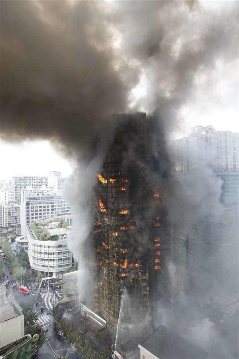 Pożar 30 pietrowego apartamentowca