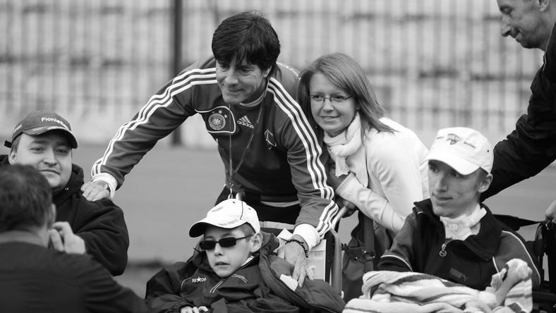 Dawid Zapisek z trenerem reprezentacji Niemiec Joachimem Loewem