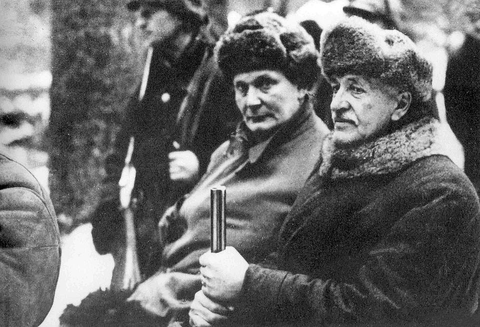 Herman Göring i Ignacy Mościcki na polowaniu w Białowieży, luty 1938 roku