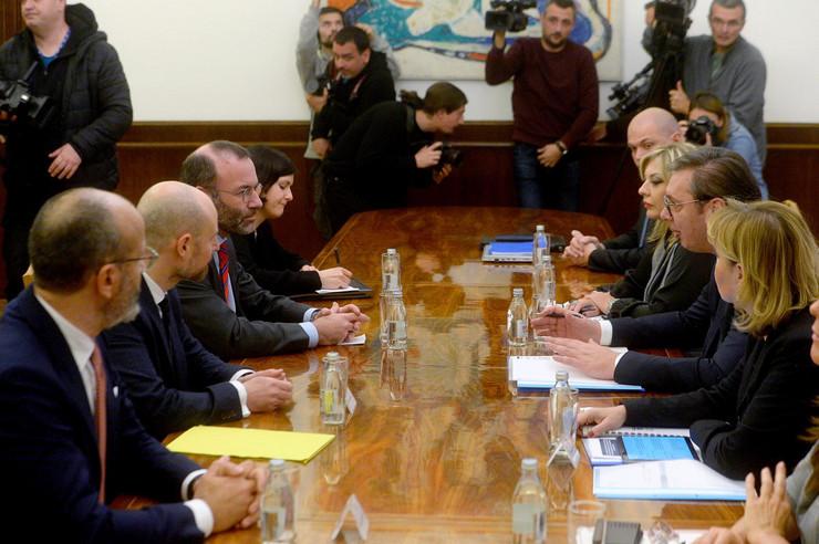 Aleksandar Vučić,delegacija Evropskog parlamenta, Dejvid Mekalister, Vladimir Bilcik, Manfred Veber