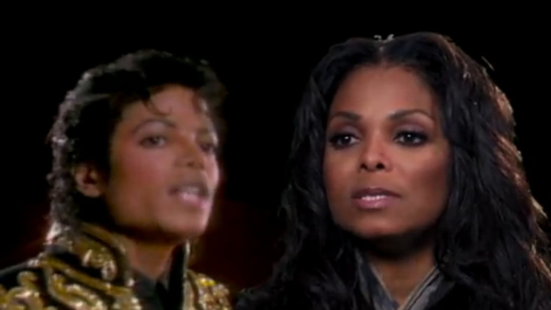 "Michael i Janet Jackson w ""We Are The World"""