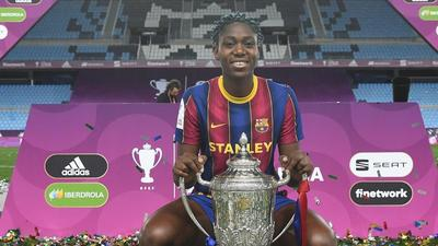Asisat Oshoala wins Spanish league title with Barcelona to stack up another club medal