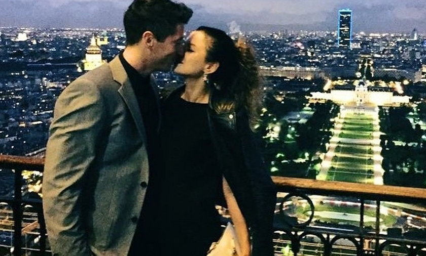 Robert Lewandowski zabrał Annę na kolację do Paryża!