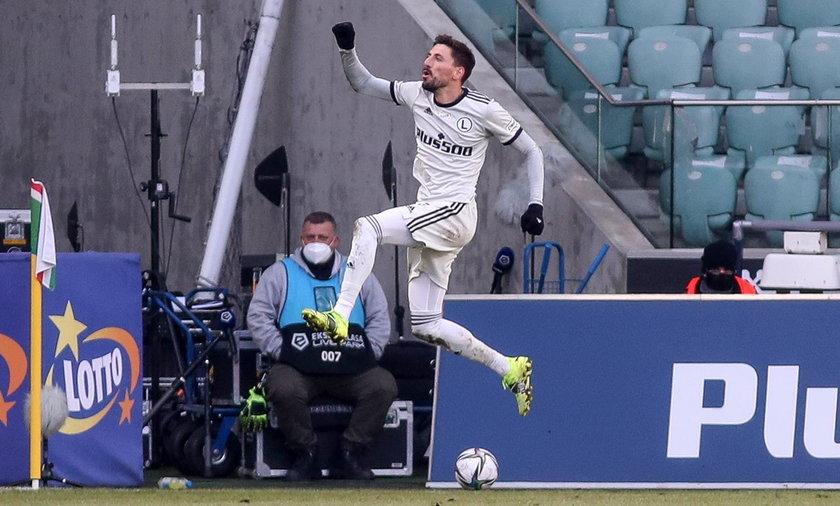 Filip Mladenovićstrzelił dwa gole w meczu Legia –Warta 3:2