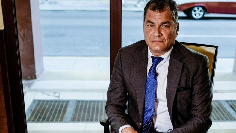 Rafael Correa was president from 2007-2017 and now lives in his wife's native Belgium