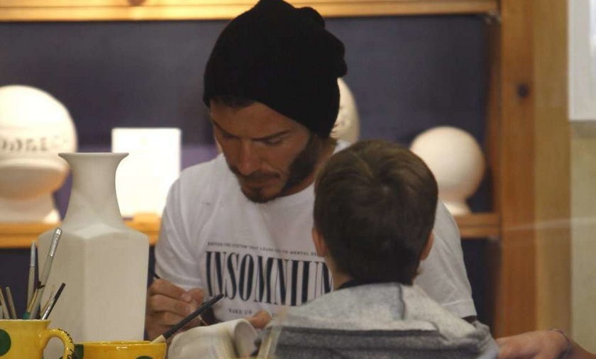 Beckham maluje z synami