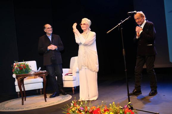 Voja Brajović, Milena Dravić i Predrag Ejdus