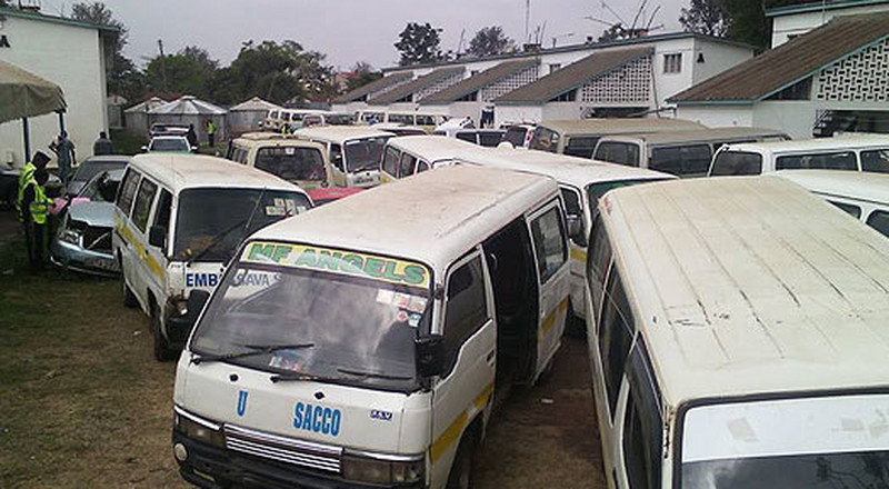 Headache for Matatus as Police seize vehicles during intense crackdown