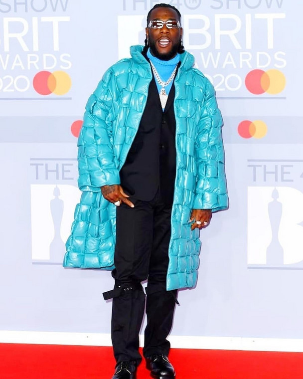 Burna Boy at the 40th BRIT Awards Red Carpet [Getty Images]
