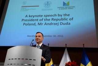 Prezydent RP w Szwecji: Innowacyjność to połączenie wielkich umysłów, idei i inicjatywy