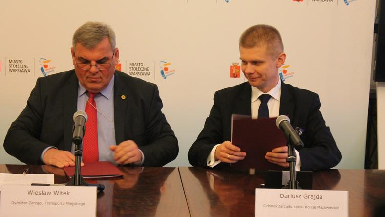 Umowę podpisali dziś Wiesław Witek, szef ZTM i Dariusz Grajda z zarządu KM