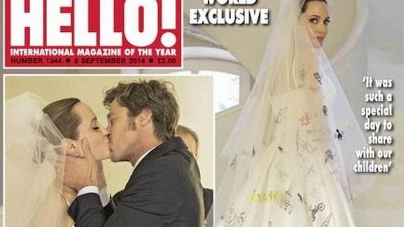 """ślub Angeliny Jolie i Brada Pitta na okładce """"HELLO!"""""""