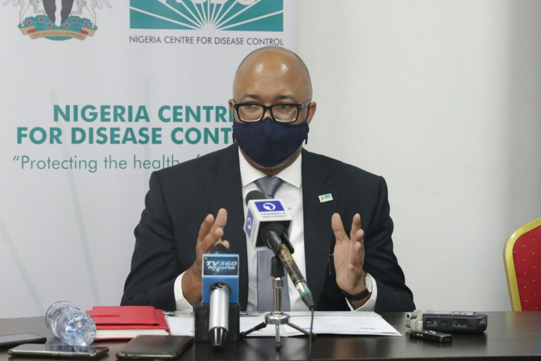 Director General of NCDC, Dr Chikwe Ihekweazu addressing the press at the presentation of 115,000 COVID-19 test kits to NCDC by UNICEF in Abuja on Tuesday, Sept 29, 2020. [Twitter/@NCDCgov]
