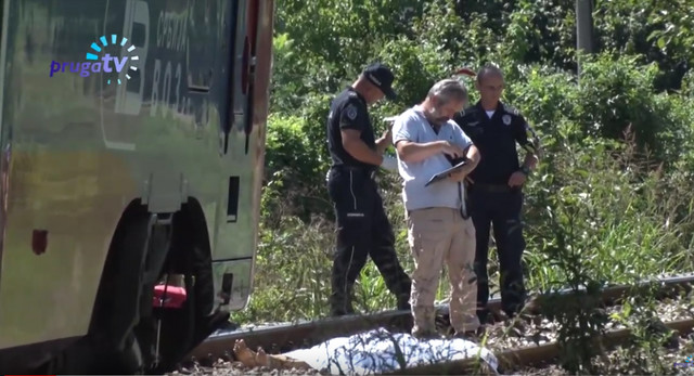 Devojka koju je udario voz, mesto nesreće