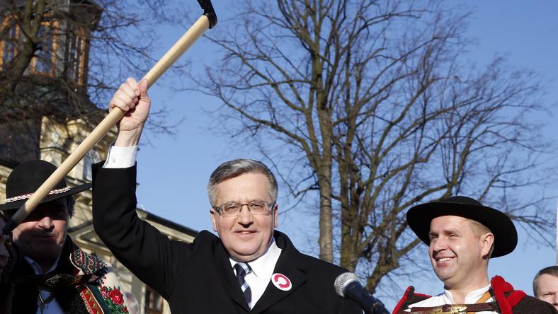 Bronisław Komorowski, podczas spotkania z wyborcami w Nowym Targu