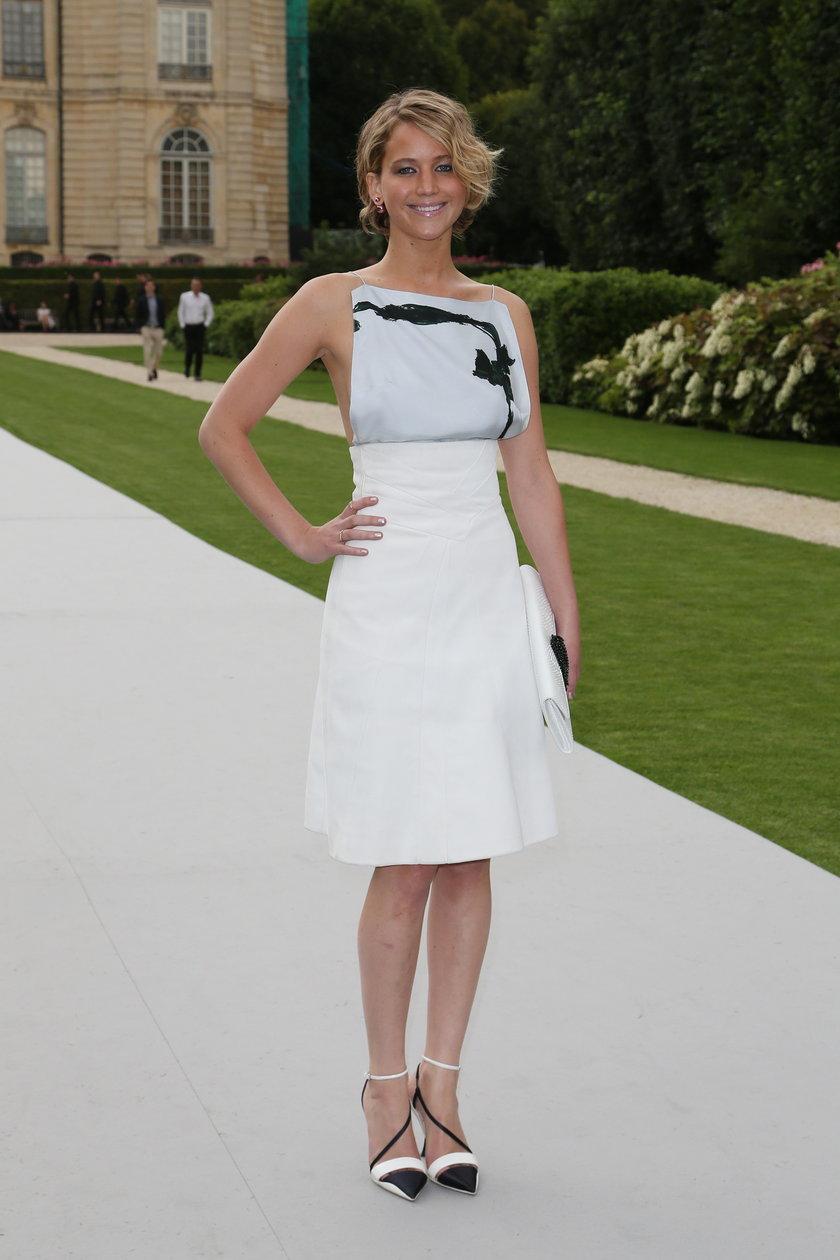 Jennifer Lawrence na pokazie Diora
