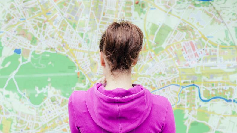 wakacje podróż mapa