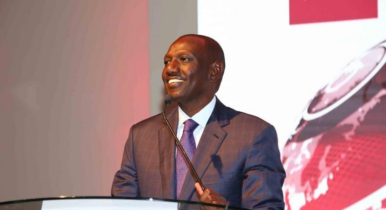 DP William Ruto during a past address (Twitter)
