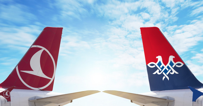 Air Serbia and Turkish Airlines