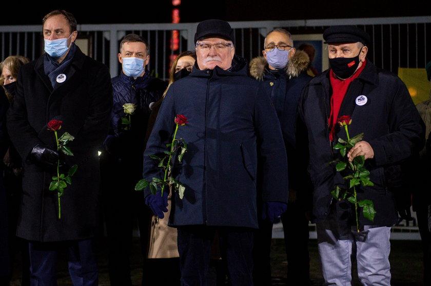 Lech Wałęsa podczas uroczystości w Gdańsku.
