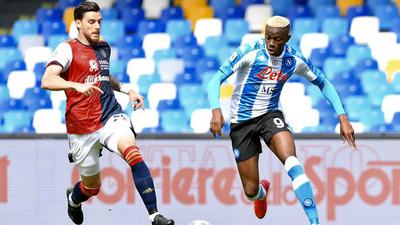 Osimhen scores as Napoli draw Cagliari