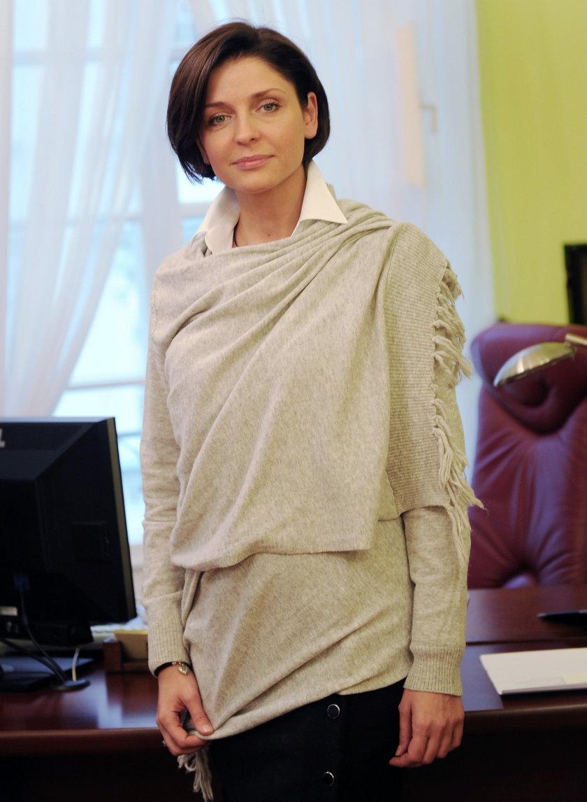 Joanna Mucha w gabinecie