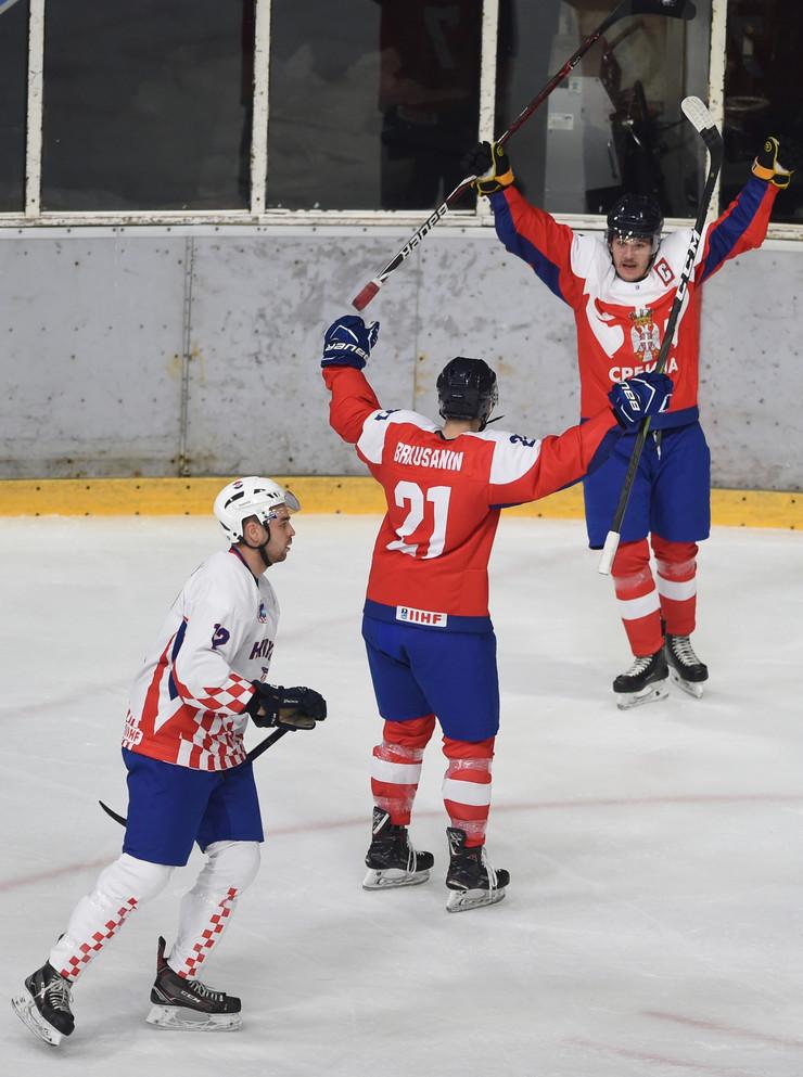 Hokejaška reprezentacija Srbije, Hokejaška reprezentacija Hrvatske