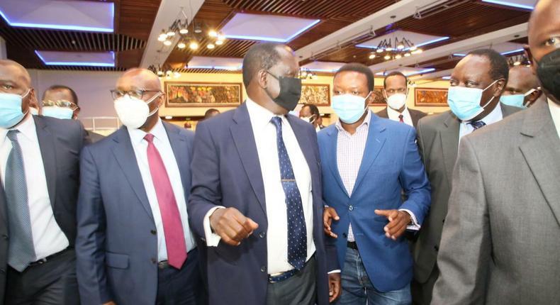 Former Prime Minister Raila Odinga with Council of Governors