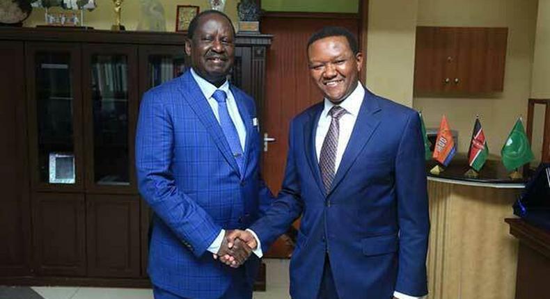 Machakos Governor Alfred Mutua dand Raila Odinga