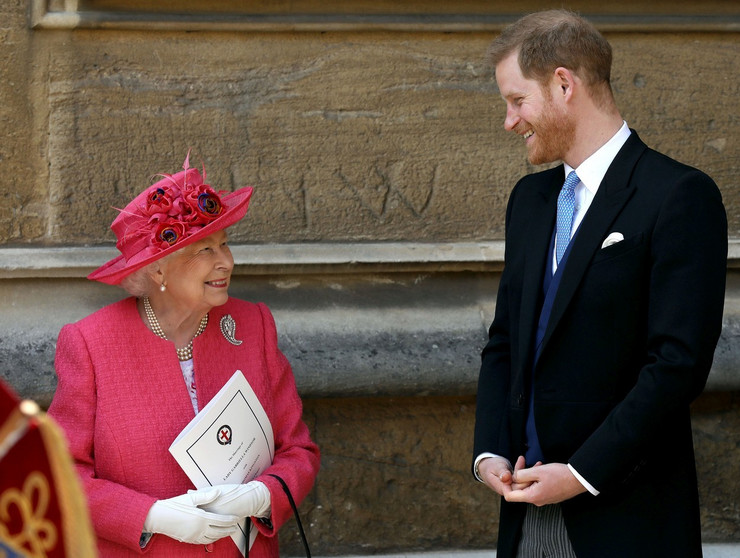 Kraljica Elizabeta II i princ Hari u kapeli Sent Džordž u maju prošle godine