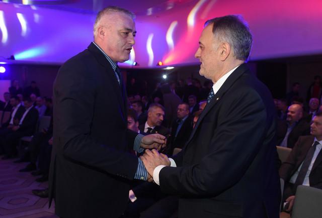 Pozdrav predsednika košarkaškog i odbojkaškog saveza, Danilovića i Gajića