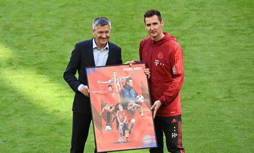 Miroslav Klose został pięknie pożegnany przez Bayern Monachium