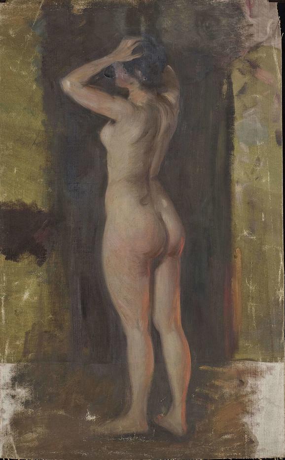 Paja Jovanović, Nedovršena studija ženski akt IV, 1930-1940, Muzej grada Beograda