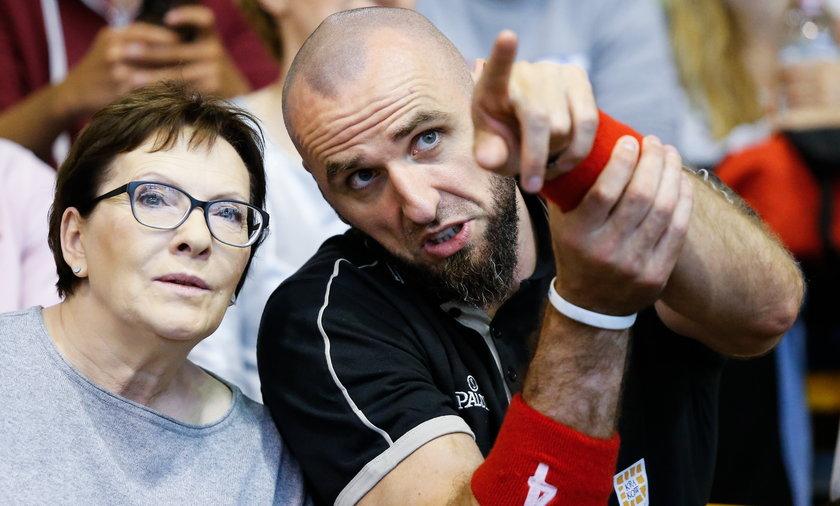 Gortat i Ewa Kopacz