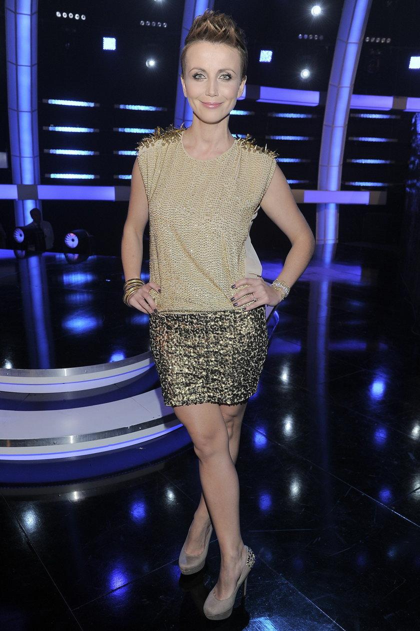 Katarzyna Zielińska w studio telewizyjnym