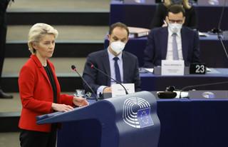 Debata w PE po wystąpieniu Morawieckiego. Azmani: Wzywamy szefową KE do odrzucenia krajowego planu odbudowy Polski