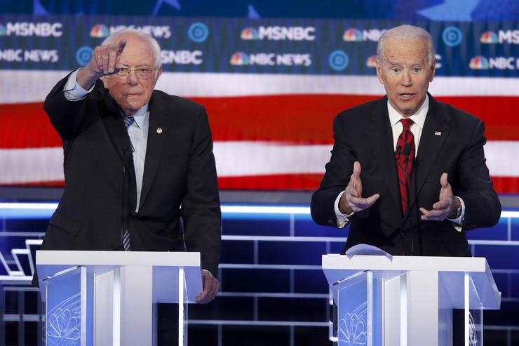 Berni Sanders, Džo Bajden