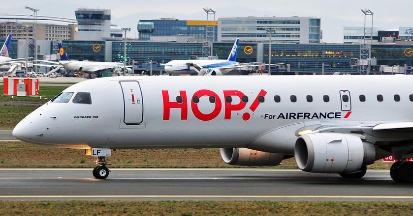 Połączenia Wrocław-Paryż będzie obsługiwaćEmbraer 170 w barwach Hop! - linii lotniczej obsługującej regionalne połączenia Air France