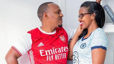 KTN news anchor Ben Kitili & wife Amina Mude celebrate second wedding anniversary in Quarantine (Photos)