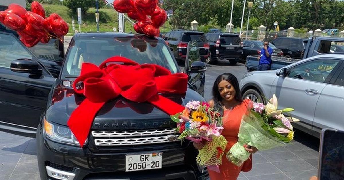 Adu Safowah claims Nana Aba Anamoah's Range Rover gift belongs to her boyfriend