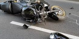 Horror na drodze! Motocyklista cudem przeżył!