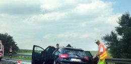 Wypadek na A4. Ciężarówka zderzyła sięz autem