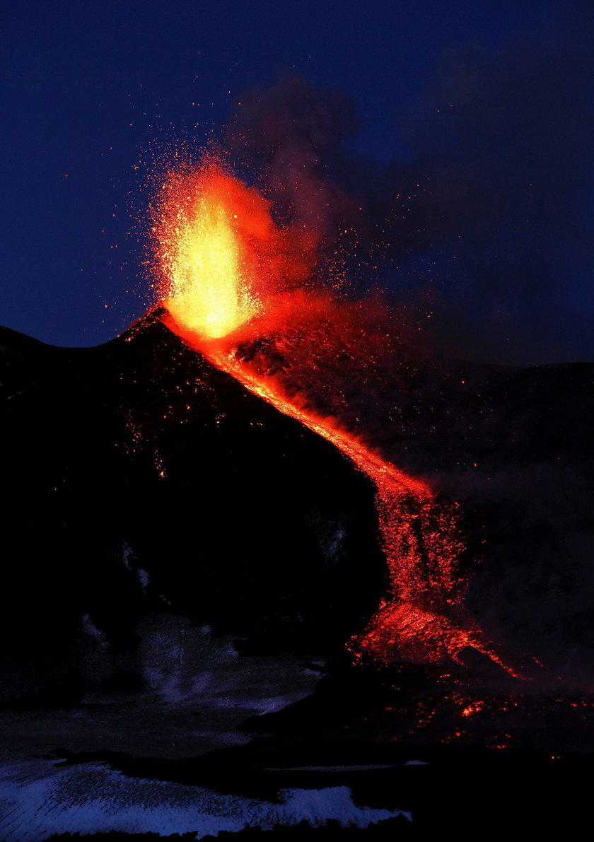 Erupcja dostarczyła spektakularnych zdjęć i nagrań