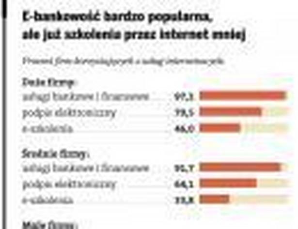 E-bankowość bardzo popularna, ale już szkolenia przez internet mniej