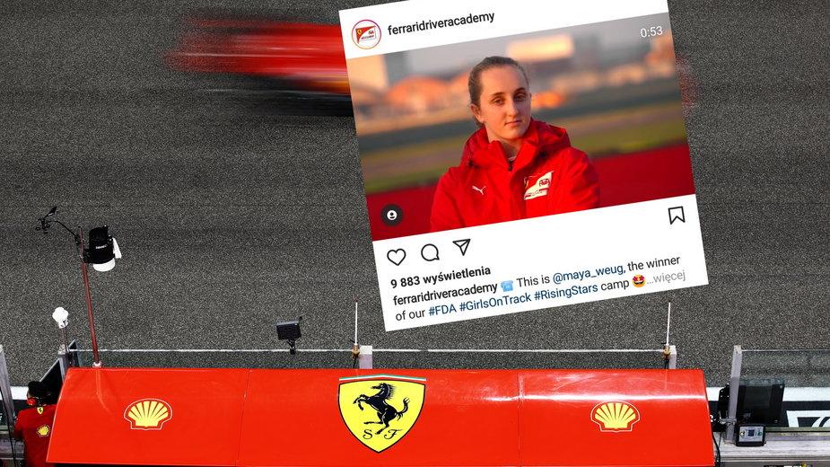 Maya Weug pierwszą kobietą w akademii Ferrari