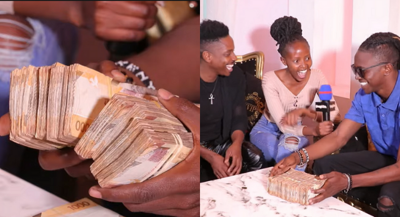 Eric Omondi fulfills his promise of gifting Mr. Seed 1 Million